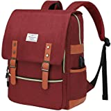 Modoker Vintage Laptop Backpack with USB Charging Port, College School Backpack Book Bag for Ladies Girls, Tear Resistant Tra
