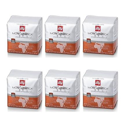 Illy 6 Paquetes de 18 Cápsulas de café de Etiopía