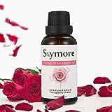 Skymore Body Massage Oil Rose, 100% Pure & Naturali Ingredienti, Oli Essenziali Per Il Corpo Massaggi Terapeutico--- Anti Aging, Rilassamento, Idratante e Romanticismo