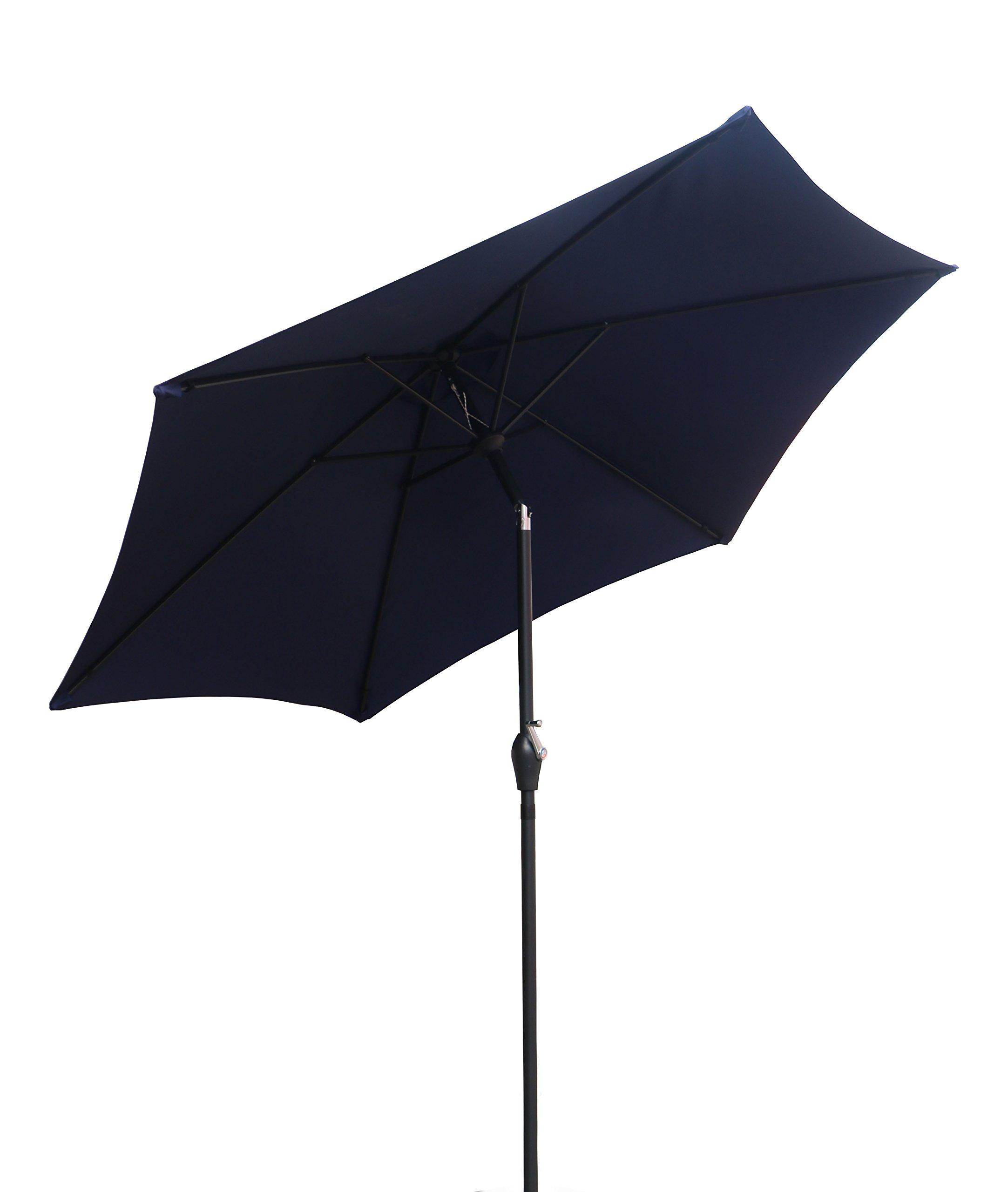 CORAL CASTLE 9' Patio Umbrella (Navy) by CORAL CASTLE (Image #1)