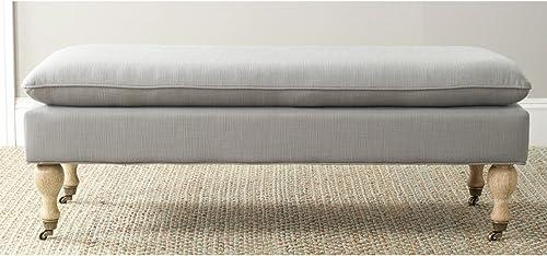 Safavieh Safavieh Hudson Collection Sutton Pillowtop Bench, Arctic Grey