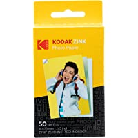Kodak 2x3 Premium Zink Photo Paper (50 Sheets) Compatible with Kodak Smile, Kodak…
