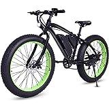 Goplus 26'' Electric Mountain Bike Snow Beach Bicycle Fat Tire Bike w/Lithium Battery 36V 350W E-bike