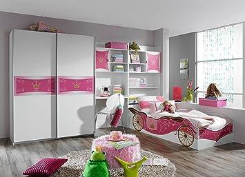 Lifestyle4living Jugendzimmer 4 Tlg In Alpinweiss Mit Motivdruck 2