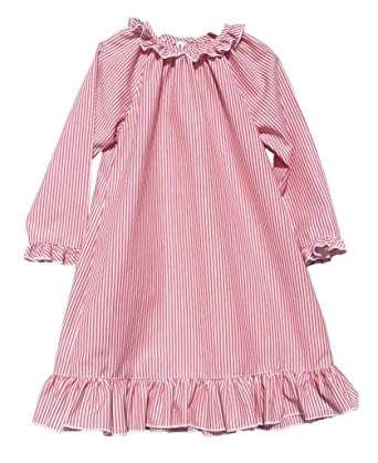 Sweet Dreams Big Girls Christmas Striped Lightweight Nightgown Pajamas Red  Sz 10 61f89259e