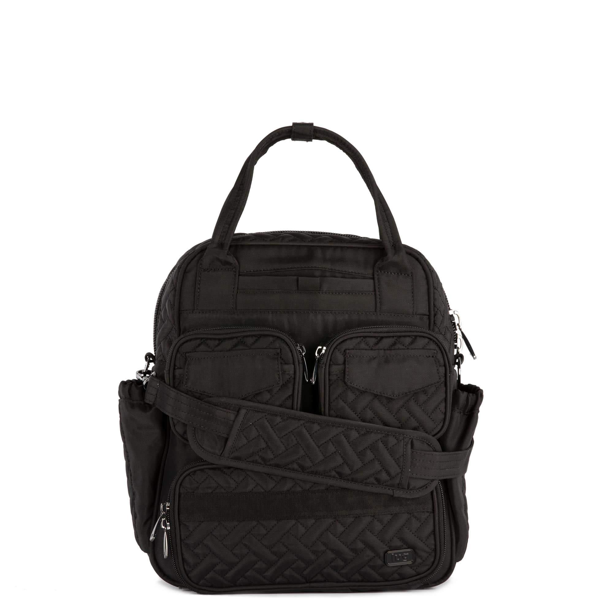 Lug Women's Mini Puddle Jumper, Brushed Black Shoulder Bag, One Size
