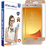CELLBELL®Tempered Glass Screen Protector For Samsung Galaxy J7 Max(GOLD) With FREE Installation Kit