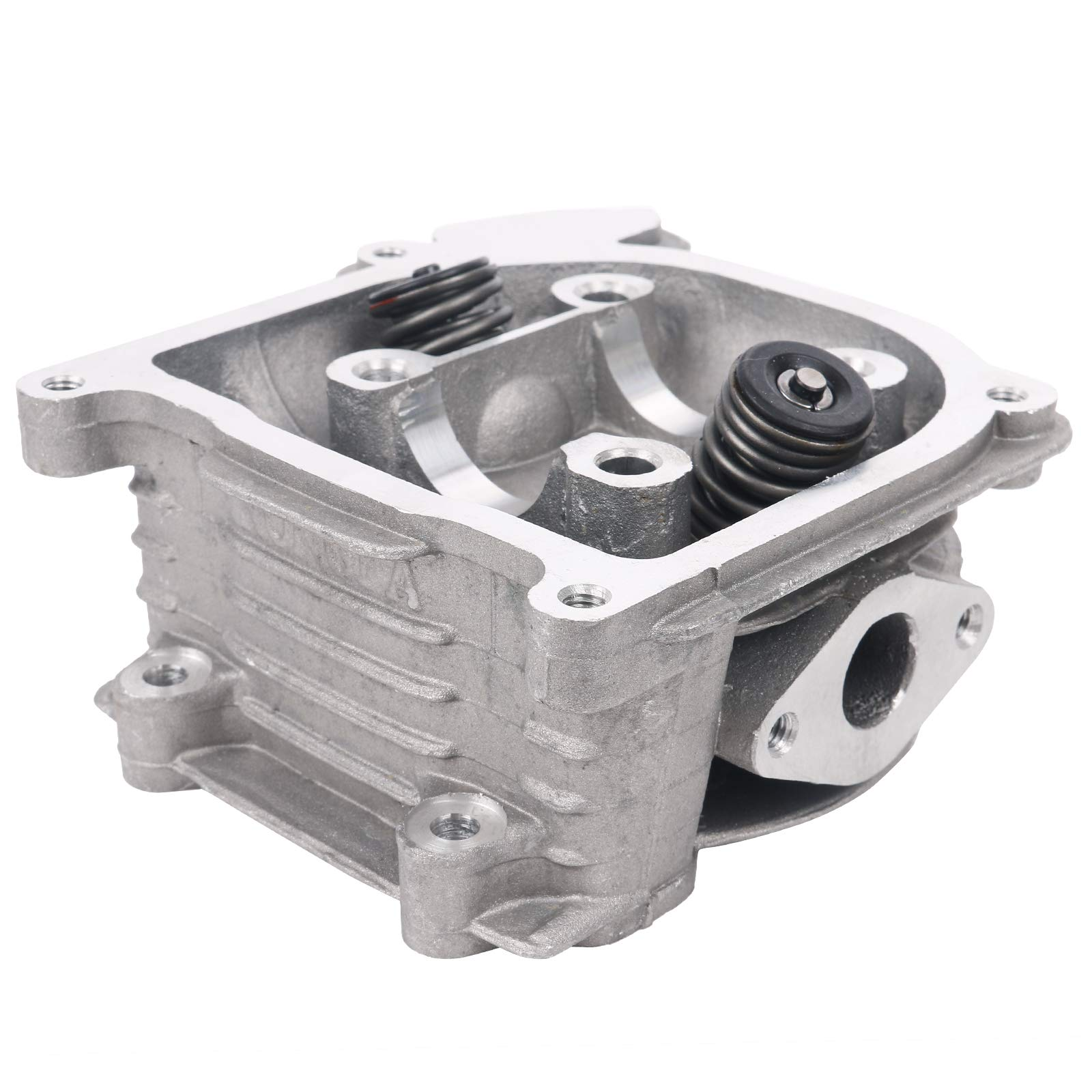 Glixal GY6 49cc 50cc to 100cc Chinese Scooter Engine 50mm Cylinder Head Assy for 139QMB 139QMA Moped ATV Quad Go Kart (69mm Valves, Non EGR Type) by Glixal