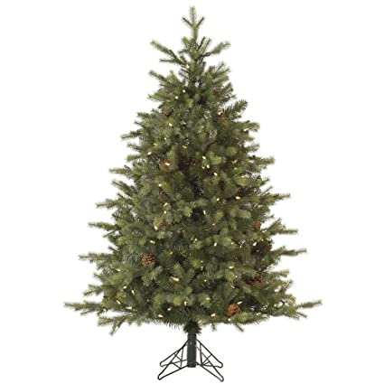 vickerman 75 rocky mountain fir ez plug artificial christmas tree with 800 warm white lights