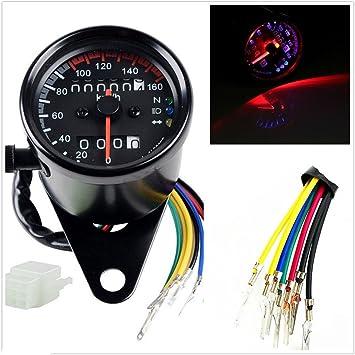 dual tachometer wiring diagram amazon com dlll universal motorcycle 12v dual odometer  amazon com dlll universal motorcycle