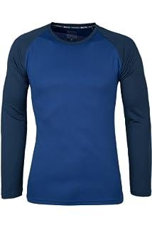 Mountain Warehouse Camiseta Endurance para Hombre - De Manga Larga, Secado rápido, Transpirable y