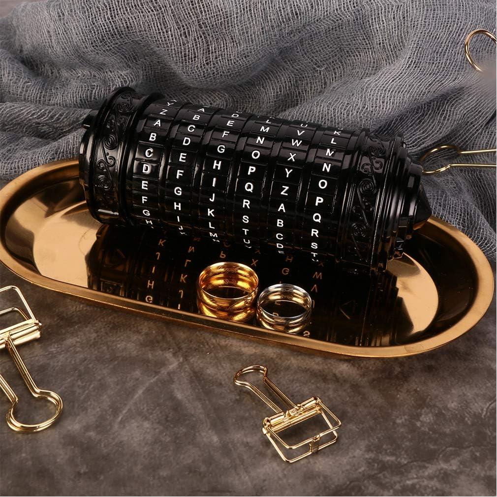 Da Vinci Code Mini Cryptex Valentines Day Interesting Romantic Birthday Gifts for Her Black