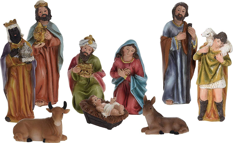 11-tlg f/ür 6,5cm Figuren Krippenfiguren Set