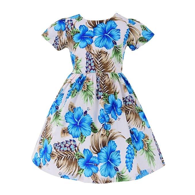 086c40dda9c5 Mädchen Sommer Kleider Longra Kleinkind Baby Kinder Kleider Mädchen  Crewneck Langarm Kleid Baumwolle Kurzarm T-