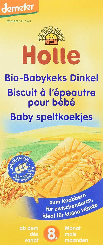 Holle Organic (Bio) Spelt (Dinkel) Wheat Baby Biscuits (Babykeks) (150g) - 8 Months+