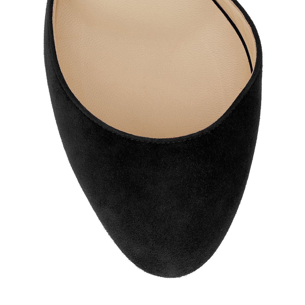 NJ Women Round Toe High Heel DOrsay Pumps Transparent Ankle Strap Sandals Dress Buckle Shoes
