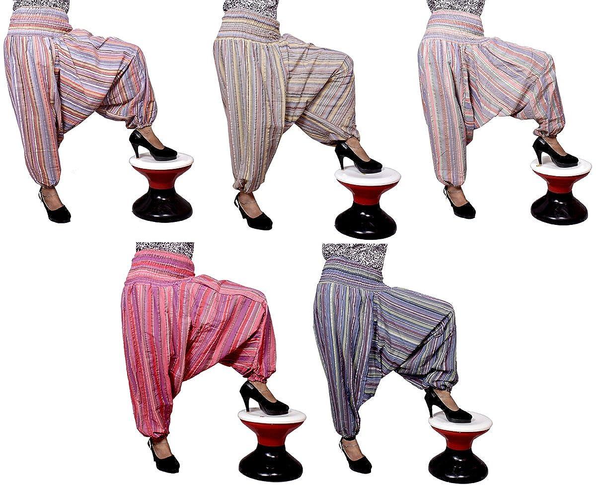 5Pcs-25pcs Striped Design Trouser Harem Pants Boho Gypsy Wholesale Lot