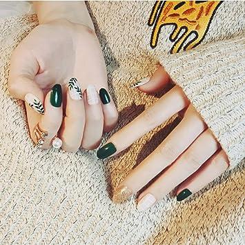 Uñas Postizas,Natural Francés Nails,24Pcs De Uñas Postizas,Puntas ...