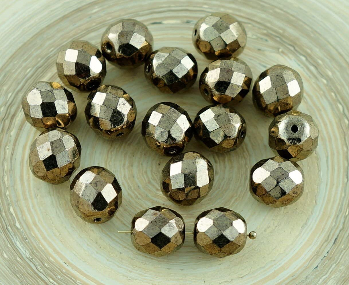 10pcs 10mm Fire Polished Round Beads Czech Glass CHOOSE COLOR