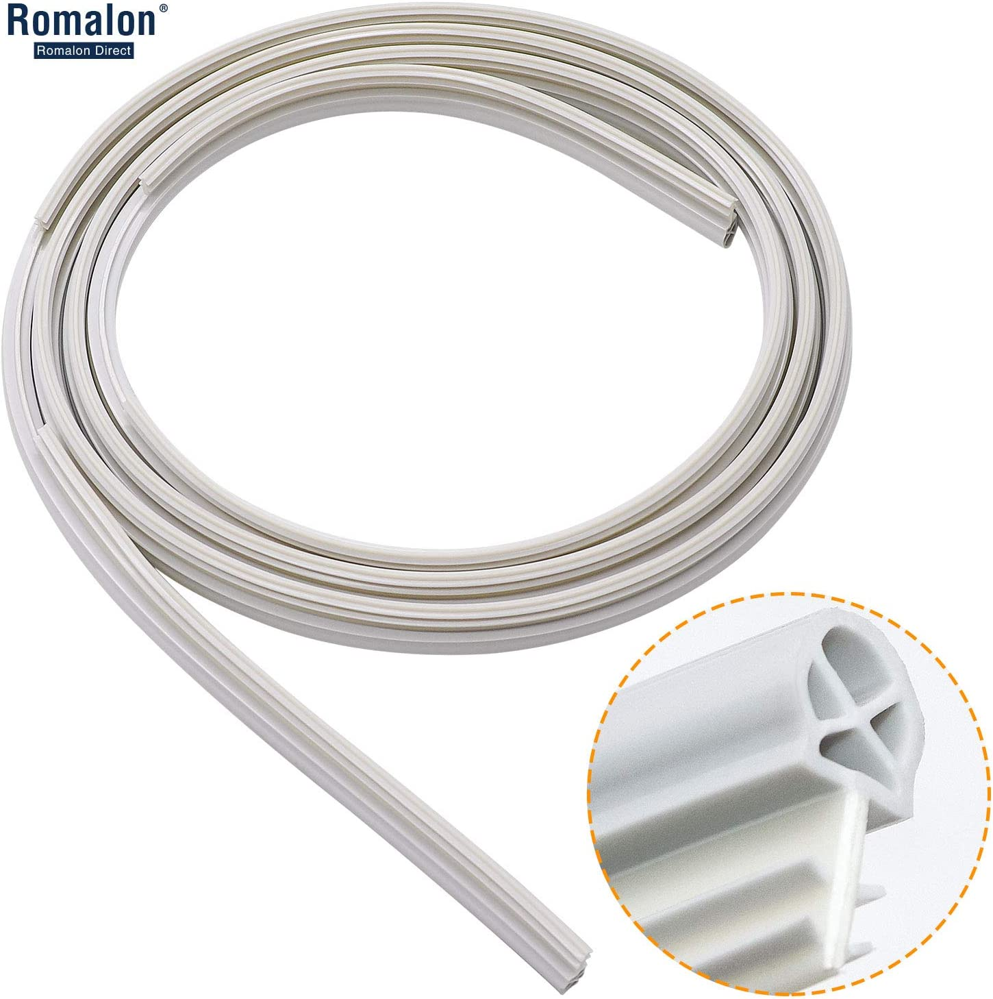 Romalon WD08X10057 Dishwasher Door Gasket for GE,Hotpoint,Kenmore, Part#AP3798079,EAP958908,PS958908,WD08X10014,WD8X10014,1088473