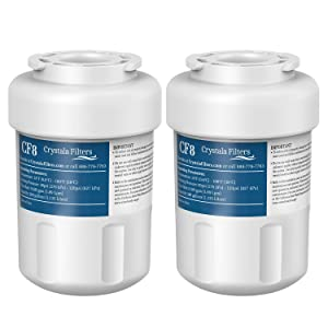 MWF Water Filter Replacement for GE MWF, Smartwater, MWFA, FMG-1, Kenmore 9991, 46-9991 Refrigerator Water Filter by Crystala Filters(2 Pack)