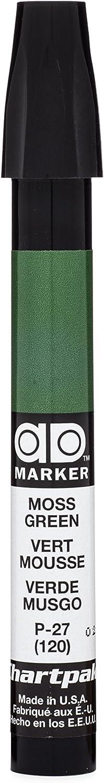 The Original Chartpak AD Marker, Tri-Nib, Moss Green, 1 Each (P27)