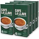 Café La Llave Espresso Capsules, Intensity 11-Recylable Coffee Pods Compatible with Nespresso OriginalLine Machines 80 Count