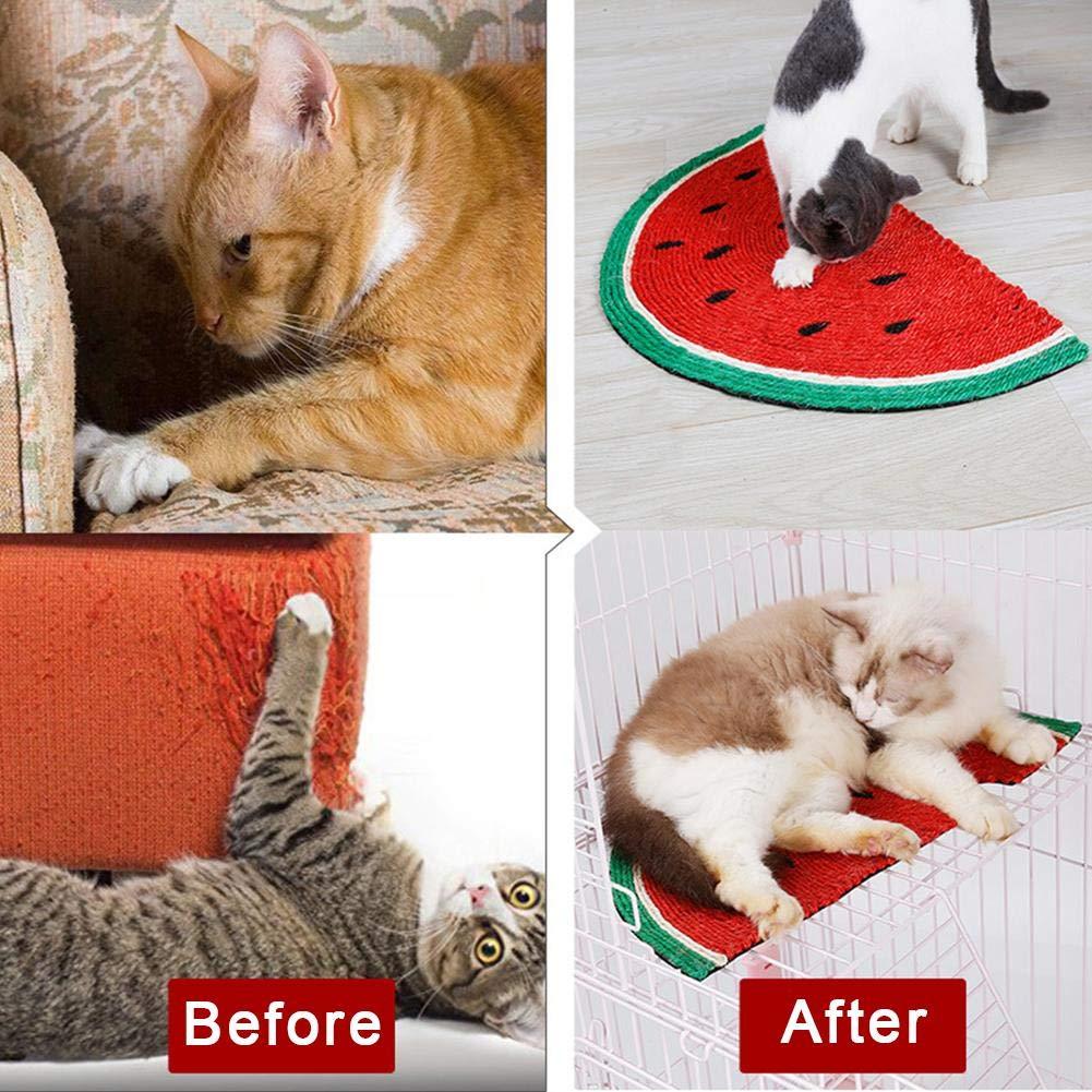 Kratzmatte Für Die Krallenpflege Ihrer Katze Arvin87Lyly Sisal Kratzmatte Katzen Sisalmatte Kratzteppich Katzenbett Wassermelone Natural Schadstofffrei
