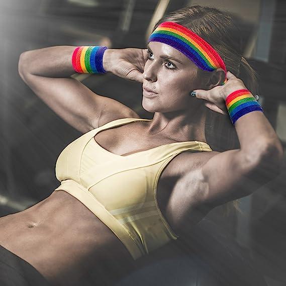 Training Yoga Laufen Gesicht Trocken Und K/ühl Halten Passt Zu Den Meisten Kopfumf/ängen 2 PCS Schwei/ß Absorbieren Schwei/ßband Radfahren Schwei/ß Stirnband F/ür Sport DMFSHI Sport Stirnband