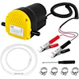 Oil Change Pump Extractor 12v 60W Motor Oil Diesel Fluid Extractor Pump Scavenge Suction Transfer Pump for Car, Boat…