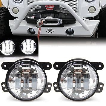2 x Cromado 4 pulgadas 30 W LED luces de niebla para Jeep ...