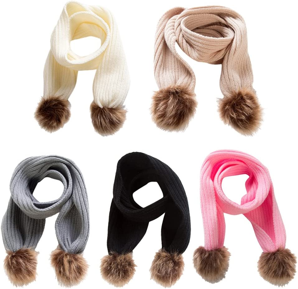 Kids Soft Knitted Scarf Infant Toddler Fashion Solid Winter Warm Wrap Shawl White as described