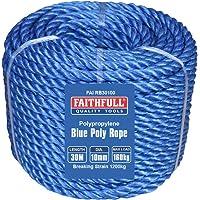Faithfull FAIRB30100 blauwe Poly Coil Rope 10mm x 30M Max belasting: 160kg