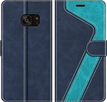 MOBESV Funda para Samsung Galaxy S7 Edge, Funda Libro Samsung S7 Edge, Funda Móvil Samsung Galaxy S7 Edge Magnético Carcasa para Samsung Galaxy S7 Edge Funda con Tapa, Azul: Amazon.es: Electrónica