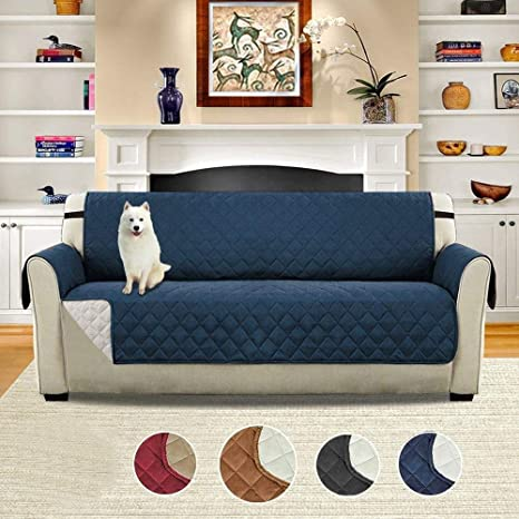 eujiancai Double-Sided Sofa Cover Reversible Quilted ...