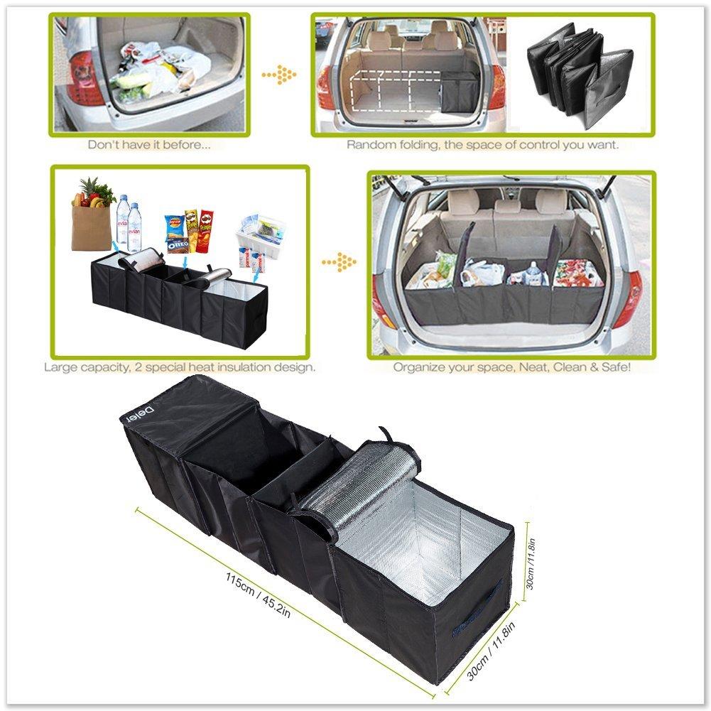Amazon.es: Deler plegable de 4 compartimento para maletero bolsillos con K š ¹ hlung y aislamiento F š ¹ r Auto, SUV, Minivan y camiones, resistente y ...