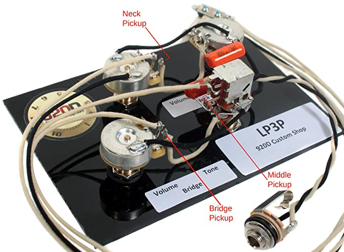 gibson les paul black beauty 3 pickup wiring harness bourns cts switchcraft  new: amazon co uk: musical instruments