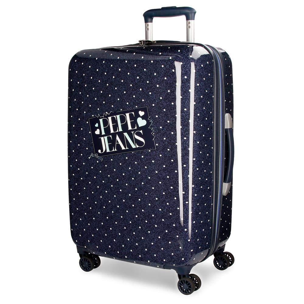 Pepe Jeans Olaiaスーツケース、67 cm、64リットル、ブルー(Azul)   B07FJGCD8Q