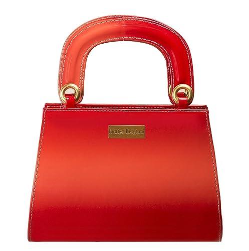 b0780266db Louise Belgium Designer Hand-held Bag for Women - Red  Amazon.in ...