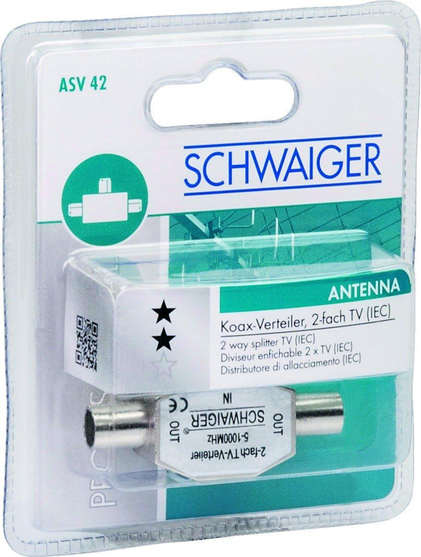 Schwaiger Asv42 531 Aufsteckverteiler 2 Fach Tv Für Elektronik