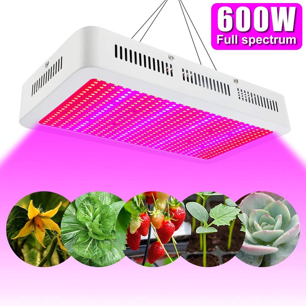 Éclairage pour plantes 600W LED Horticole Lampe Full Spectrum Lampe ...