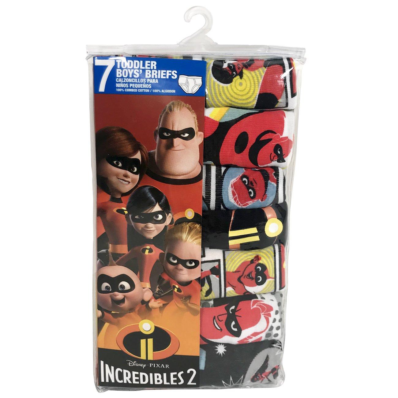 Amazon.com: Disney Boys Toddler Incredibles 7-Pack Underwear Briefs: Clothing