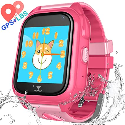 Kids Waterproof Smartwatch with GPS Tracker - Boys & Girls IP67 Waterproof Smart Watch Phone with Camera Games Sports Watches Back to School Supplies ...