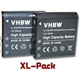 Li-Ion 2x batería 950mAh (3.6V) apto para cámara Kodak PixPro AZ361, AZ362, AZ521, Pentax XG-1 por Kodak LB-060, Ricoh,Pentax LB-060.