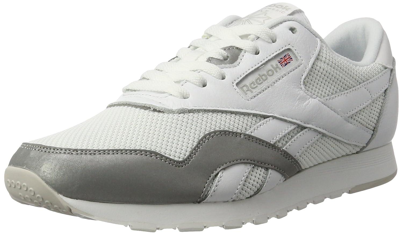 Reebok Herren Classic Nylon Tech Mix Sneaker  43 EU|Wei? (White/ Steel/ Silver)