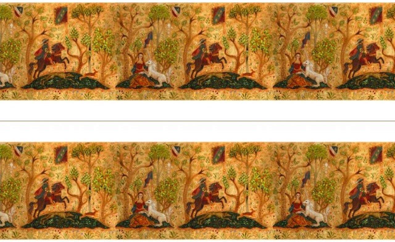 Melody Jane Dollhouse Miniature Print 1:12 Scale Tudor Wallpaper Frieze