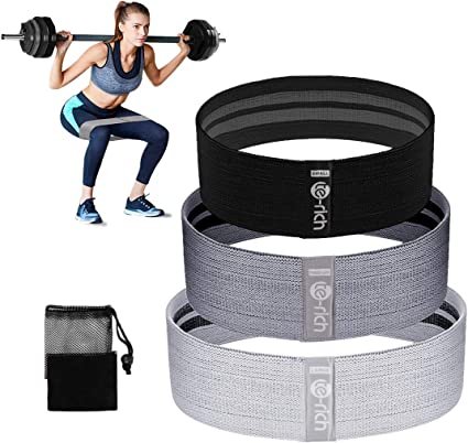 Non-Slip Elastic Loop Leg Resistance Bands for Strength Training Bootie Fitness Premium Glute Booty Exercise Squat Gym Band Suitable for Men and Women Yoga Hip Circle Resistance Bands