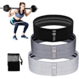 Te-Rich Fabric Resistance Loop Exercise Bands, Cloth Booty Training Bands, Non-Slip/Thick Wide Fitness Elastic Circle…