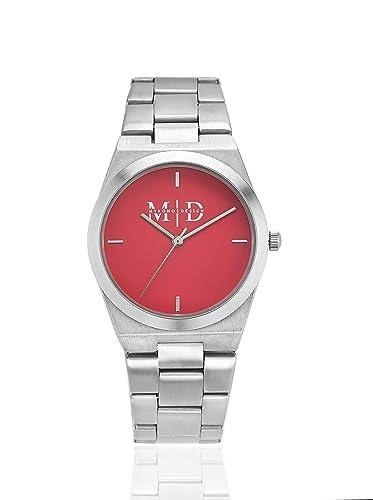 Mykonos diseño reloj de pulsera para mujer de acero 316L Colección Paradise Rosa Fresa Correa Silver [pa-s-sw]: Amazon.es: Relojes