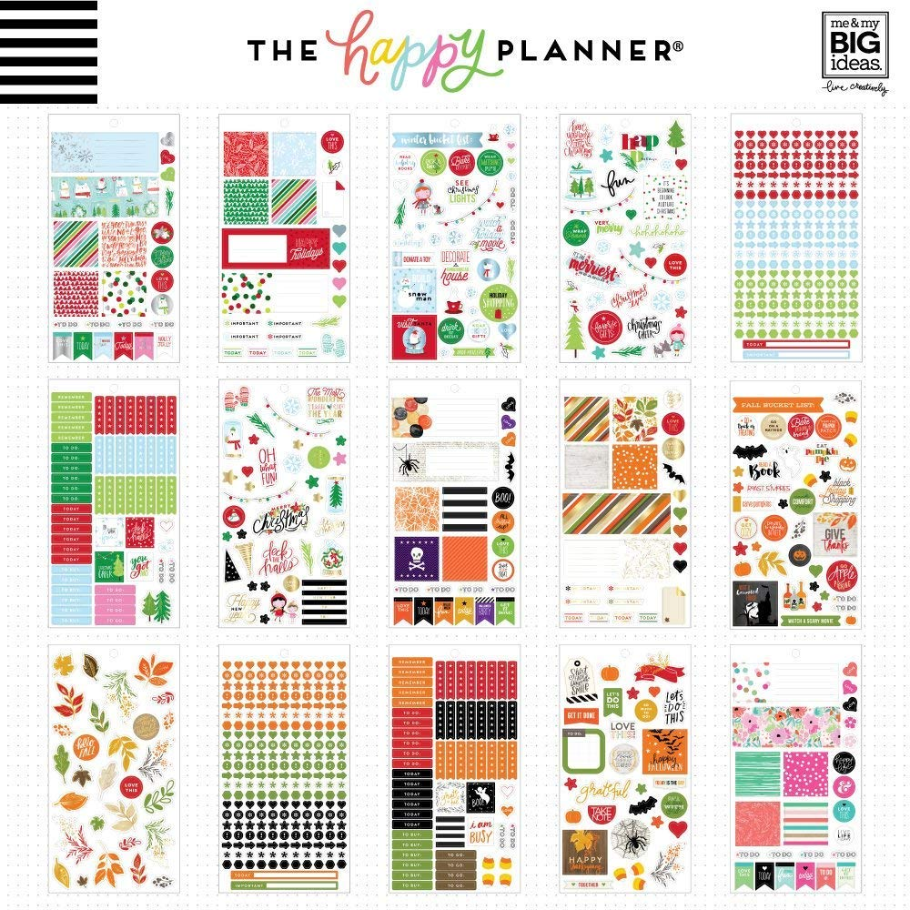 The Happy Planner Value Pack Stickers Season